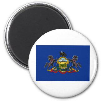 Pennsylvania State Flag 6 Cm Round Magnet