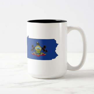 Pennsylvania State Flag and Map Mugs