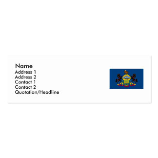 Pennsylvania State Flag Pack Of Skinny Business Cards