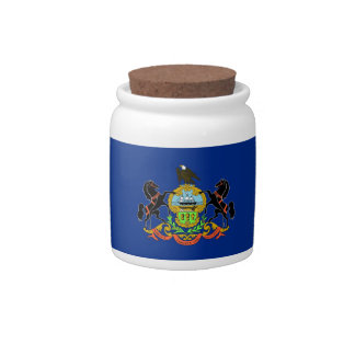 Pennsylvania State Flag Candy Jar