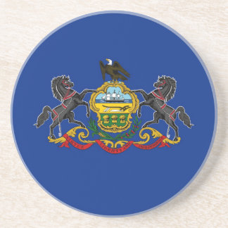 Pennsylvania State Flag Drink Coasters