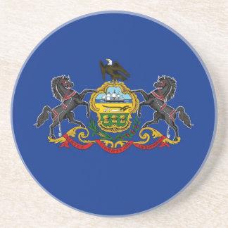 Pennsylvania State Flag Drink Coasters