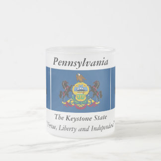 Pennsylvania State Flag Frosted Glass Mug