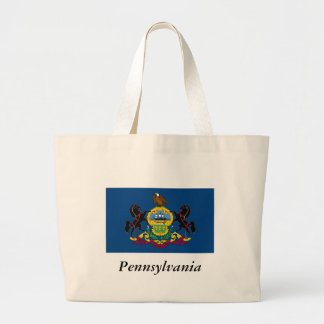Pennsylvania State Flag Jumbo Tote Bag