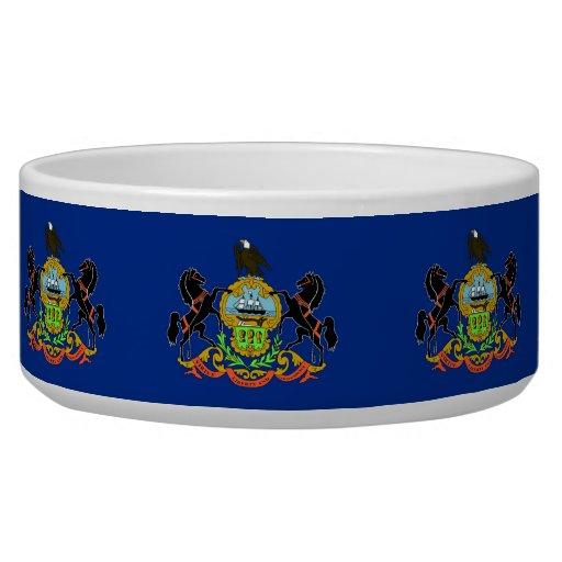 Pennsylvania State Flag Pet Bowl Dog Water Bowl