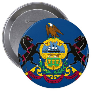 Pennsylvania State Flag Pinback Buttons