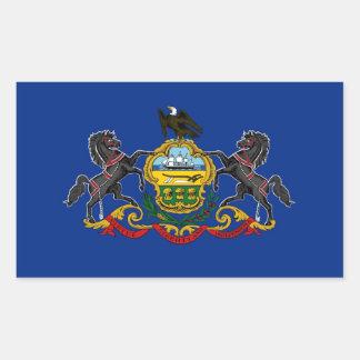 Pennsylvania State Flag Rectangular Sticker