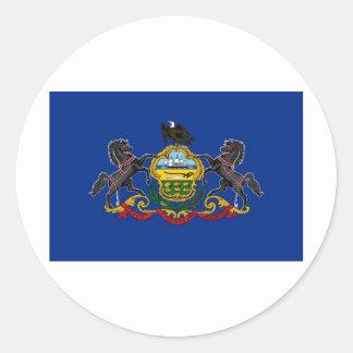 Pennsylvania State Flag Round Sticker