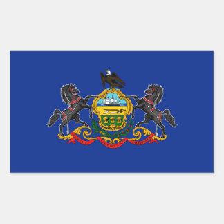 Pennsylvania state flag usa united america symbol rectangular sticker