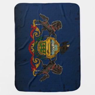 Pennsylvania State Flag VINTAGE Buggy Blanket