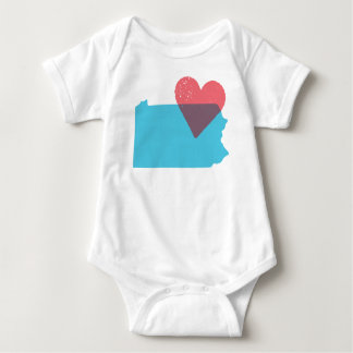 Pennsylvania State Love Baby Shirt