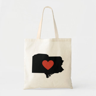 Pennsylvania State Love Book Bag or Travel Tote