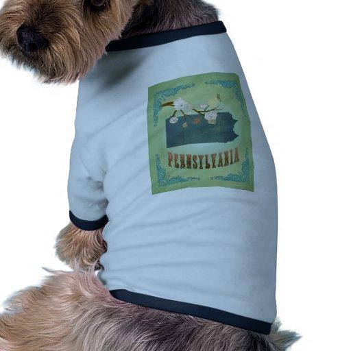 Pennsylvania State Map – Green Pet Shirt