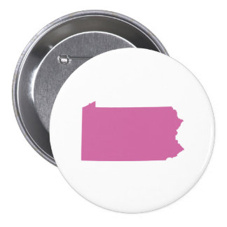 Pennsylvania State Outline Pinback Buttons