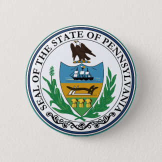 Pennsylvania State Seal 6 Cm Round Badge