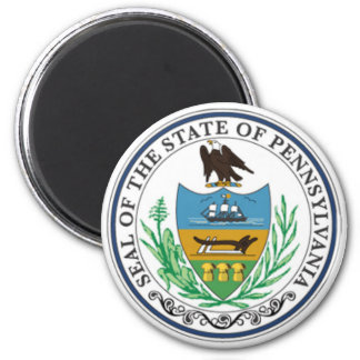 Pennsylvania State Seal 6 Cm Round Magnet