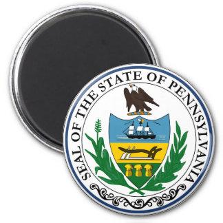 Pennsylvania state seal america republic symbol fl 6 cm round magnet