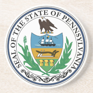 Pennsylvania State Seal Coaster