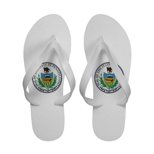 Pennsylvania State Seal Flip Flops