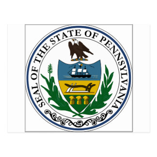 Pennsylvania State Seal Postcard