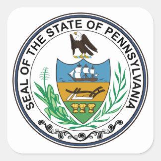 Pennsylvania State Seal Square Sticker