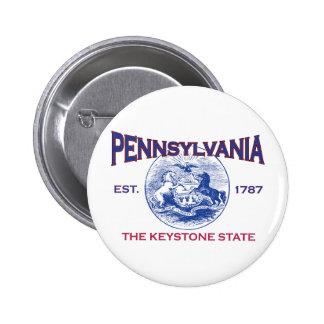 PENNSYLVANIA The Keystone State Pinback Button