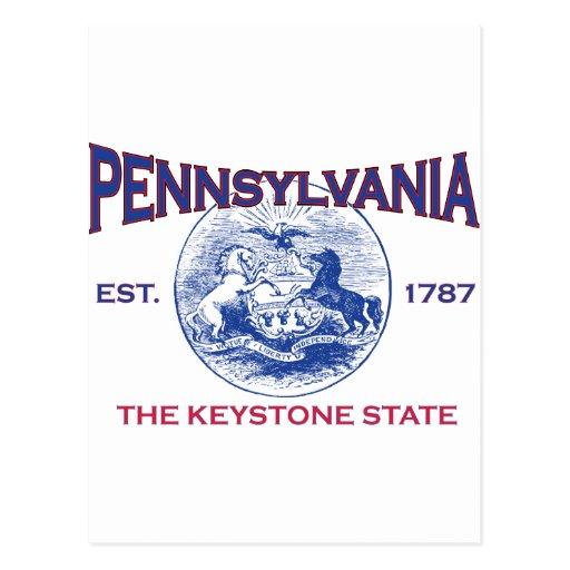 PENNSYLVANIA The Keystone State Post Card