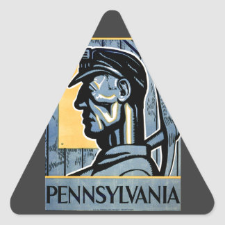 Pennsylvania! Triangle Sticker