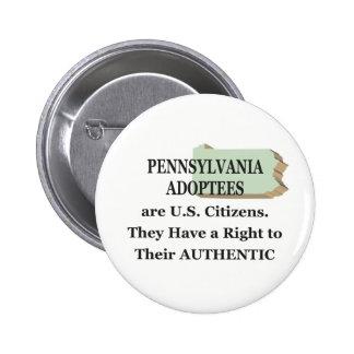 Pennsylvania: US Citizen 6 Cm Round Badge