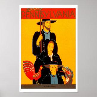 Pennsylvania Vintage Travel Posters