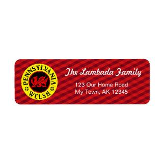 Pennsylvania Welsh American Address Labels