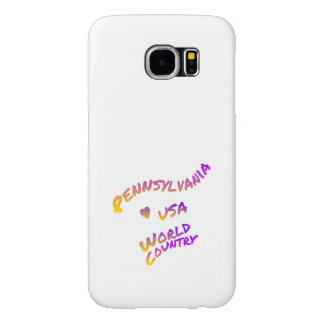 Pennsylvania world country, colorful text art samsung galaxy s6 cases