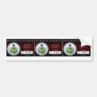 Pennsylvania Zombie Hunting Permit Bumper Stickers