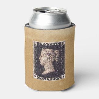Penny Black Postage Stamp Can Cooler