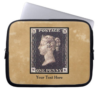 Penny Black Postage Stamp Computer Sleeve