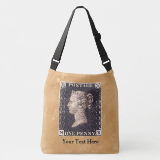 Penny Black Postage Stamp Crossbody Bag