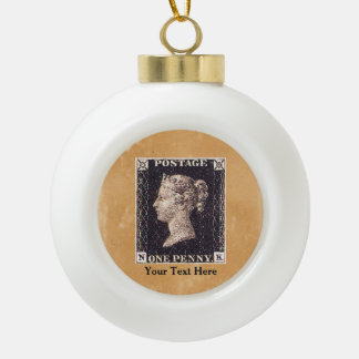 Penny Black Postage Stamp Ornaments