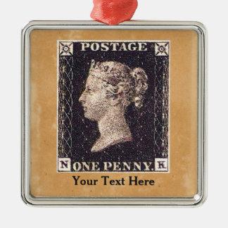 Penny Black Postage Stamp Ornament