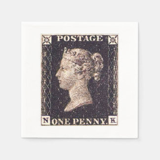 Penny Black Postage Stamp Disposable Napkin
