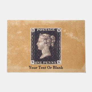 Penny Black Postage Stamp Doormat