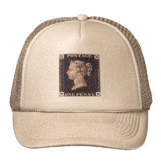 Penny Black Postage Stamp Mesh Hat