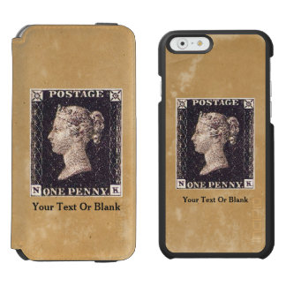 Penny Black Postage Stamp Incipio Watson™ iPhone 6 Wallet Case
