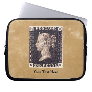 Penny Black Postage Stamp Laptop Computer Sleeve