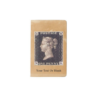Penny Black Postage Stamp Pocket Moleskine Notebook