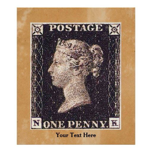 Penny Black Postage Stamp Posters