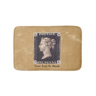 Penny Black Postage Stamp Bath Mats