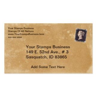 Penny Black Stamp Dealer Business Card