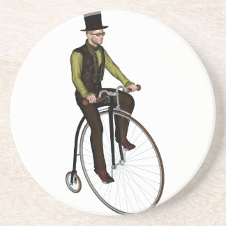 Penny Farthing Bicycle Beverage Coasters