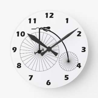 Penny Farthing Bicycle Round Clock