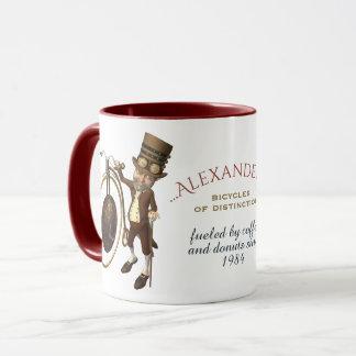 Penny Farthing Funny Steampunk Gentleman Mug